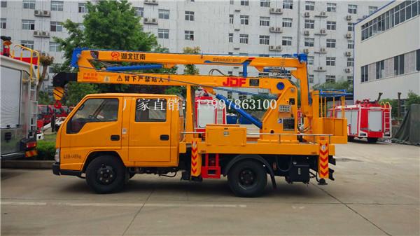 江铃12米蓝牌高空作业车