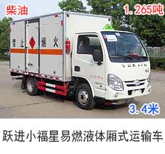 跃进小福星易燃液体厢式运输车(1.3吨)