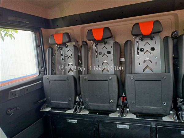 德国MAN压缩空气泡沫消防车后排座椅