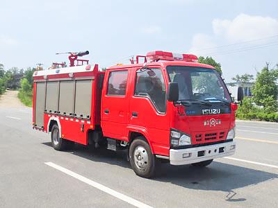 五十铃国六3吨泡沫消防车图片