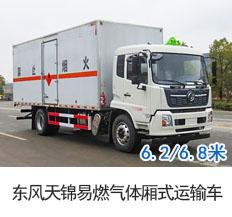 国六东风天锦易燃气体厢式运输车