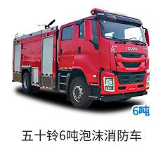 国六五十铃6吨泡沫消防车