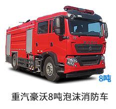国六重汽豪沃8吨泡沫消防车