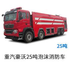 国六重汽豪沃25吨泡沫消防车