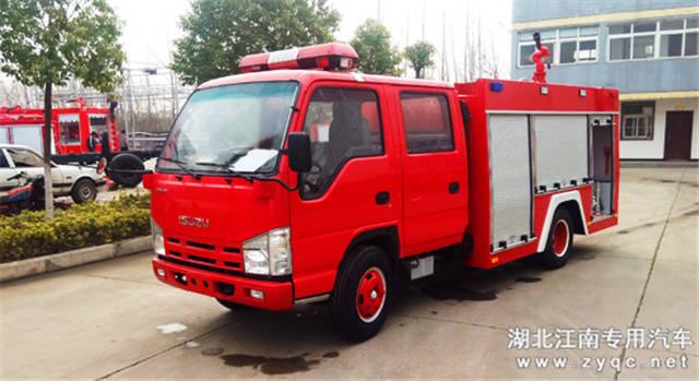 【庆铃五十铃2吨水罐消防车】价格