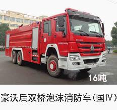 豪沃16吨泡沫消防车(国四)