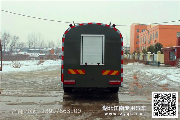 东风6驱消防洒水车尾部图片