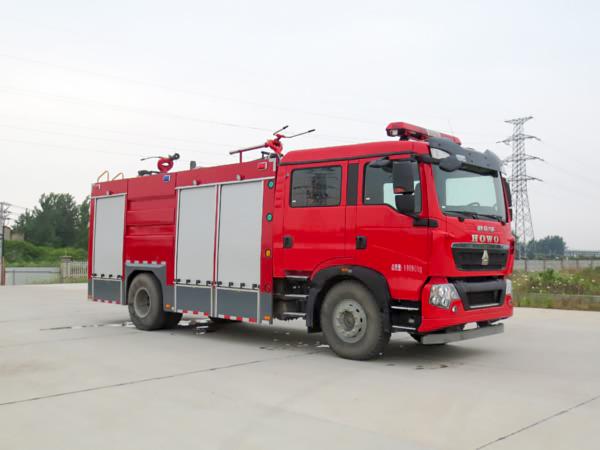 豪沃干粉水联用消防车