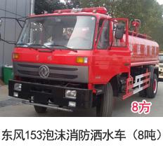 东风153泡沫消防洒水车