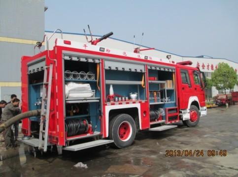 水泡干粉联用消防车