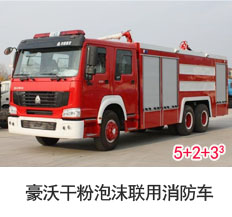 豪沃干粉泡沫联用消防车(10吨)