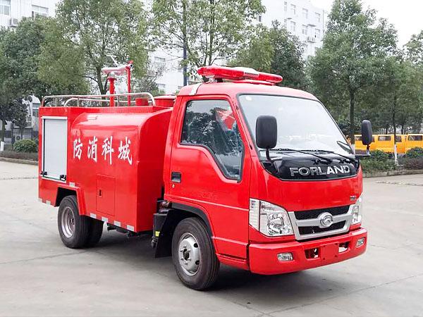 福田国五2吨小型消防洒水车图片