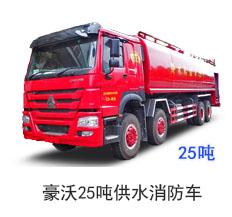豪沃25吨供水消防车