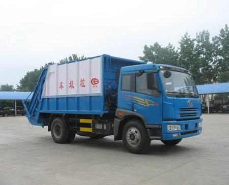 解放1163平头单桥压缩式垃圾车