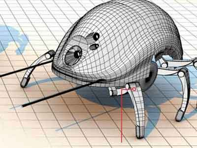 甲虫灭火机器人