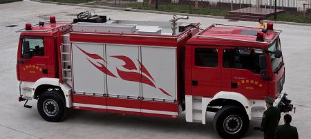 [东方119]双头消防车亮相世博园安保