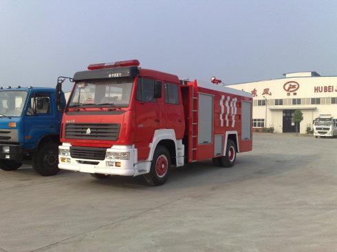 斯太尔单桥水罐--泡沫消防车(8吨)