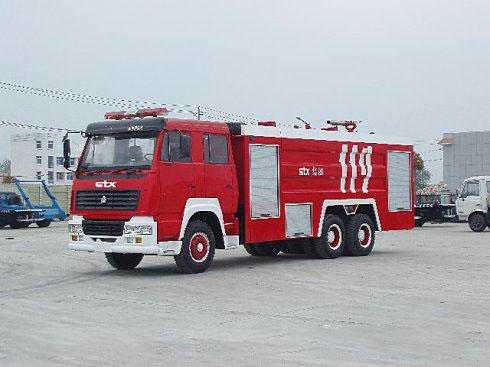 斯太尔后双桥水罐--泡沫消防车(15-16吨)