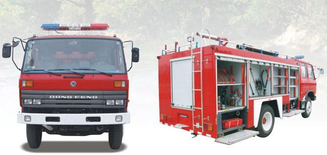 东风145水罐、泡沫消防车图片