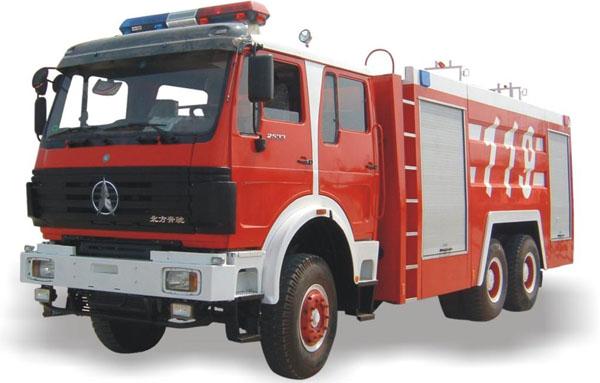 北方奔驰水罐消防车